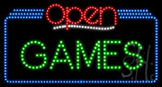 Games Open LED Sign