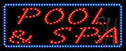 Pool and Spa LED Sign