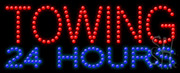 Towing 24 Hours Led Sign