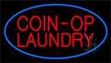Coin Op Laundry Blue Neon Sign