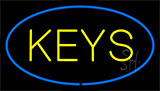 Keys Blue Neon Sign