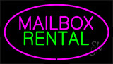 Mailbox Rental Animated Neon Sign