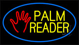 Palm Reader Logo Blue Neon Sign
