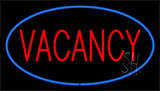 Vacancy Blue Neon Sign