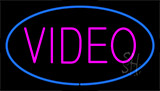 Purple Video Blue Neon Sign