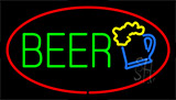 Beer Logo Red Neon Sign