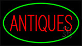 Antiques Green Neon Sign