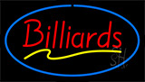 Red Billiards Blue Neon Sign