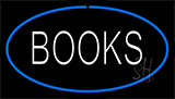 Books Blue Neon Sign