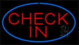 Check In Blue Neon Sign
