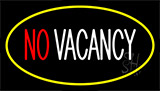 No Vacancy Yellow Neon Sign