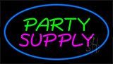 Party Supply Blue Neon Sign