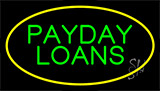 Green Payday Loans Animated Yellow Neon Sign