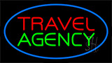 Travel Agency Blue Neon Sign