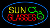 Sun Glasses Blue Neon Sign