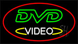Dvd Video Red Neon Sign