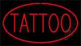 Red Tattoo Red Border Animated Neon Sign
