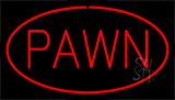 Red Pawn Neon Sign