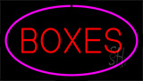 Boxes Purple Neon Sign