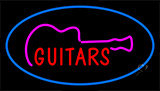 Guitars Blue Neon Sign