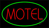 Red Motel Green Border Neon Sign