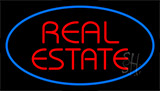 Real Estate Blue Neon Sign