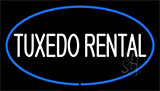 Tuxedo Rental Blue Neon Sign