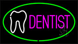 Pink Dentist Green Neon Sign