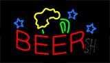 Red Beer Mug Animated Neon Sign