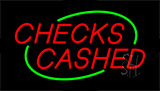 Checks Cashed Animated Neon Sign