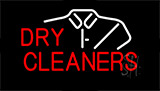 Red Dry Cleaners Shirt Logo Animated Neon Sign