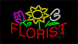 Red Florist Neon Sign