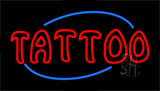 Red Double Stroke Tattoo Animated Neon Sign