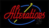 Red Alterations Neon Sign