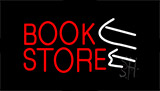 Book Store With Arrows Animated Neon Sign