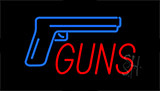Guns Flashing Neon Sign