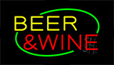 Beer And Wine Animated Neon Sign