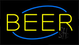 Yellow Beer Animated Neon Sign