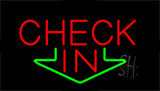Check In Animated Neon Sign