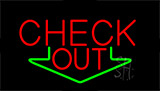 Check Out Animated With Down Arrow Neon Sign