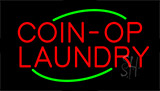 Red Coin Op Laundry Animated Neon Sign