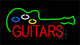 Guitars Flashing Neon Sign