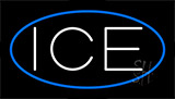 White Ice Blue Animated Neon Sign