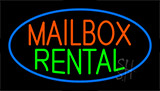 Mailbox Rental Flashing Neon Sign
