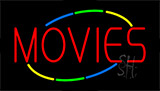 Movies Flashing Neon Sign