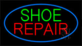 Shoe Repair Blue Flashing Neon Sign