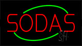 Sodas Animated Neon Sign
