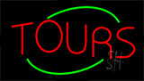 Tours Flashing Neon Sign