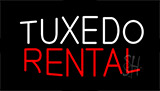 Tuxedo Rental Flashing Neon Sign