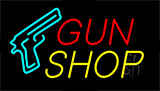 Gun Shop Flashing Neon Sign